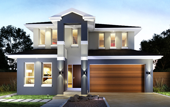 Double floor house for New build house designs
