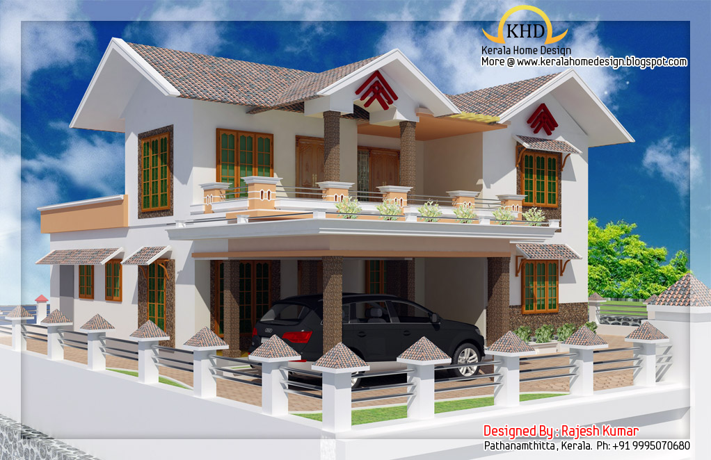 Double floor house for Kerala home designs photos in double floor